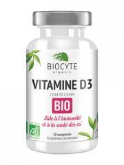 Biocyte Vitamine D3 Bio 30 Comprimés - Pilulier 30 Comprimés