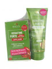 Biocyte Keratine Forte Full Spectrum 3 x 40 Gélules + Keratine Forte Shampoing 200 ml Offert - Lot 2 produits