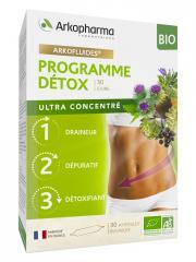 Arkopharma Arkofluides Programme Détox Bio - Boîte 3 x 10 ampoules