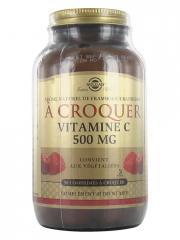 Solgar Vitamine C 500 Goût Framboise/Cranberry 90 Comprimés à Croquer - Flacon 90 comprimés