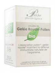 Phytalessence Pure Gelée Royale Pollen Bio 60 Gélules - Pot 60 gélules