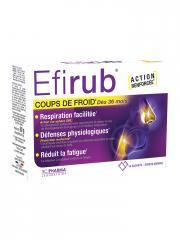 3C Pharma Efirub Coups de Froid Goût Ananas 16 Sachets - Boîte 16 sachets de 5 g