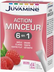 Juvamine Action Minceur 6en1 14 Sticks - Boîte 14 sticks