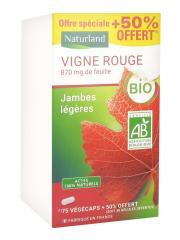 Naturland Vigne Rouge Bio 75 Végécaps + 38 Végécaps Offertes - Boîte 113 végécaps
