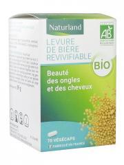 Naturland Levure de Bière Revivifiable Bio 75 Végécaps - Pot 75 végécaps