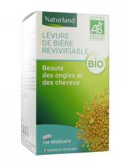 Naturland Levure de Bière Revivifiable Bio 150 Végécaps - Pot 150 végécaps