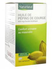 Naturland Huile de Pépins de Courge Bio 180 Capsules - Pot 180 capsules