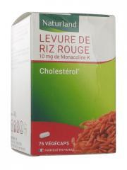Naturland Levure de Riz Rouge 75 Végécaps - Pot 75 végécaps