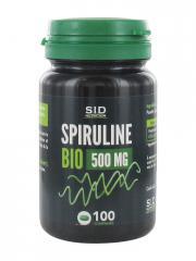 S.I.D Nutrition Spiruline Bio 500 mg 100 Comprimés - Pot 100 comprimés
