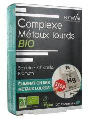 Nutrivie Complexe Métaux Lourds Bio 30 Comprimés - Boîte 30 comprimés