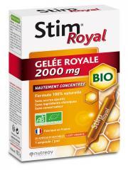 Nutreov Stim Royal Gelée Royale 2000 mg Bio 20 Ampoules - Boîte 20 ampoules de 15 ml