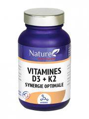 Nature Attitude Vitamine D3 + K2 Synergie Optimale 60 Gélules - Flacon 60 Gélules