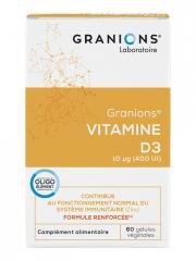 Granions Vitamine D3 60 Gélules - Boîte 60 gélules