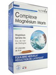 Nutrivie Complexe Magnésium Marin 20 Ampoules - Boîte 20 Ampoules de 15 ml