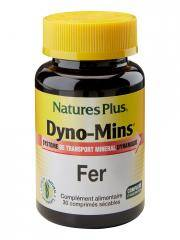 Natures Plus Dyno-Mins Fer 30 Comprimés Sécables - Pot 30 comprimés