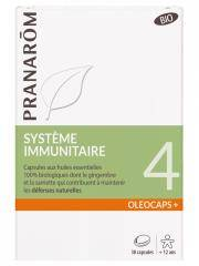 Pranarôm Oléocaps+ 4 Système Immunitaire Bio 30 Capsules - Boîte 30 Capsules