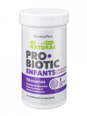 Natures Plus Gi Natural Probiotic Enfants 30 Comprimés à Croquer - Pot 30 comprimés