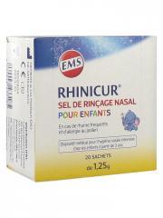 Rhinicur Sel de Rinçage Nasal pour Enfants 20 sachets - Boîte 20 sachets de 1,25 g