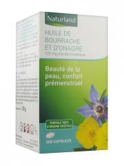 Naturland Huile de Bourrache et d'Onagre Bio 200 Capsules - Pot 200 capsules