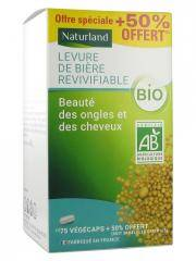Naturland Levure de Bière Revivifiable Bio 75 Végécaps + 38 Végécaps Offertes - Pot 113 végécaps