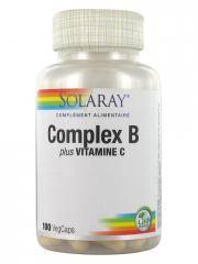 Solaray Complex B Plus Vitamine C 100 VegCaps - Pot 100 VegCaps