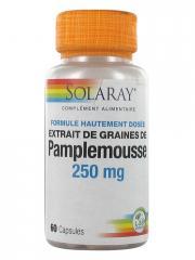 Solaray Extrait de Graines de Pamplemousse 250 mg 60 Capsules - Pot 60 Capsules