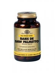 Solgar Baies de Saw Palmetto 100 Gélules Végétales - Flacon 100 gélules