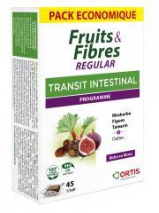 Ortis Fruits & Fibres Regular 45 Cubes à Mâcher - Boîte 45 cubes
