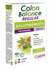 Ortis Colon Balance Regular Ballonnements Programme 36 Comprimés Plantes + 18 Comprimés Ferments Lactiques - Boîte 36 comprimés Plantes + 18 Comprimés Ferments Lactiques