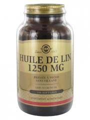 Solgar Huile de Lin 1250 mg 100 Gélules - Flacon 100 gélules