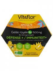 Vitaflor Gelée Royale Bio 1500 mg Défense+ 20 Ampoules - Boîte 20 ampoules x 15 ml