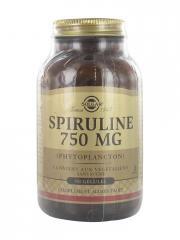 Solgar Spiruline 750 mg 80 Gélules - Flacon 80 gélules