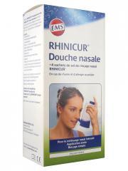 Rhinicur Douche Nasale + Sel de Rinçage Nasal 4 sachets - Boîte 1 douche nasale + 4 sachets de 2,5 g.