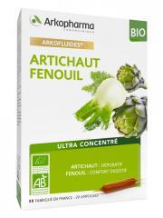 Arkopharma Arkofluides Artichaut Fenouil Bio 20 Ampoules - Boîte 20 ampoules de 10 ml