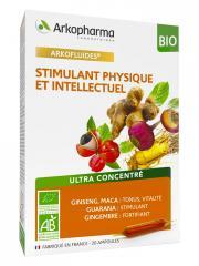 Arkopharma Arkofluides Stimulant Physique et Intellectuel Bio 20 Ampoules - Boîte 20 ampoules de 10 ml