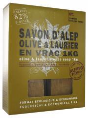 Tadé Savon d'Alep Olive et Laurier en Vrac 1 kg - Paquet Savons en Vrac 1 kg