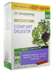 Arkopharma Arkofluides Confort Digestif Bio 20 Ampoules + 10 Ampoules Offertes - Boîte 30 ampoules de 10 ml