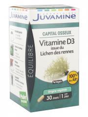 Juvamine Vitamine D3 Issue du Lichen des Rennes 30 Gélules - Boîte 30 gélules d'origine végétale