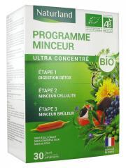 Naturland Programme Minceur Ultra Concentré Bio 30 Ampoules de 10 ml - Boîte 30 ampoules de 10 ml