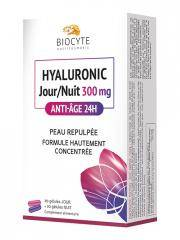 Biocyte Hyaluronic Jour / Nuit 300 mg Anti-Âge 24H 60 Gélules - Boîte 60 gélules