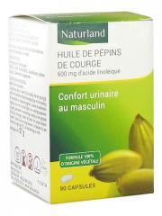 Naturland Huile de Pépins de Courge Bio 90 Capsules - Pot 90 capsules