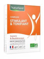 Naturland Complexe Stimulant & Tonifiant Bio 40 Gélules - Boîte 40 gélules