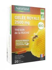 Naturland Gelée Royale 2500 mg Bio 20 Ampoules - Boîte 20 ampoules de 10 ml