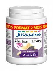 Juvamine Charbon + Levure 90 Gélules - Pot 90 gélules