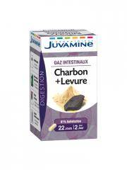 Juvamine Charbon + Levure 45 Gélules - Pot 45 gélules