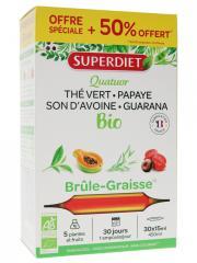 Super Diet Quatuor Brûle-Graisse Bio 20 Ampoules + 10 Ampoules Offertes - Boîte 30 ampoules de 15 ml