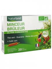 Naturland Minceur Brûleur Bio 20 Ampoules Buvables de 10 ml - Boîte 20 ampoules de 10 ml