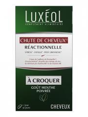 Luxéol Chute de Cheveux Réactionnelle 30 Comprimés à Croquer - Pot 30 comprimés