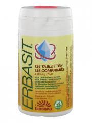 Biosana Erbasit Comprimés de Sels Minéraux Basiques Aux Plantes Sans Lactose 128 Comprimés - Boîte plastique 128 comprimés