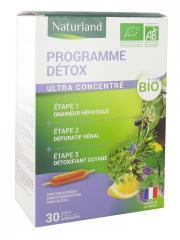 Naturland Programme Détox 3en1 Bio 30 Ampoules de 10 ml - Boîte 30 ampoules de 10 ml